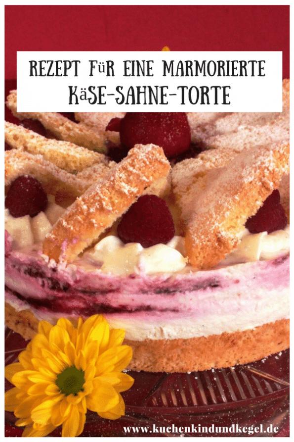 Lust auf Käse-Sahne-Torte, aber keine Lust auf eine Standard Torte? Wie wäre es mit einer marmorierten Käse-Sahne-Torte mit dem gewissen Extra? Das Rezept hierfür findet ihr auf meinem Blog! Viel Spaß beim Nachbacken und Guten Appetit!