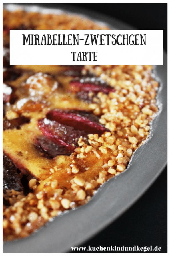 Eine Tarte ist knusprig und saftig zugleich. Diese hier verbindet süße Mirabellen mit der Säure der Zwetschgen. Ein traumhaft leckeres und einfaches Rezept erwartet euch auf meinem Blog. Viel Spaß beim Nachbacken und Guten Appetit! #Rezept #Tarte #Obstkuchen