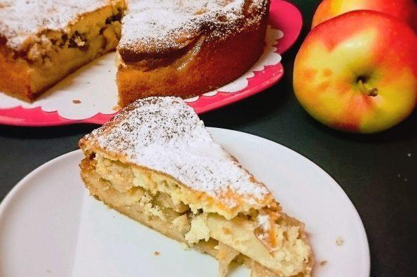 Apfelkuchen, gedeckter Apfelkuchen, Apfel verwerten, Äpfel karamelisieren, Kuchen, schneller Kuchen, Apfelkuchen Rezept