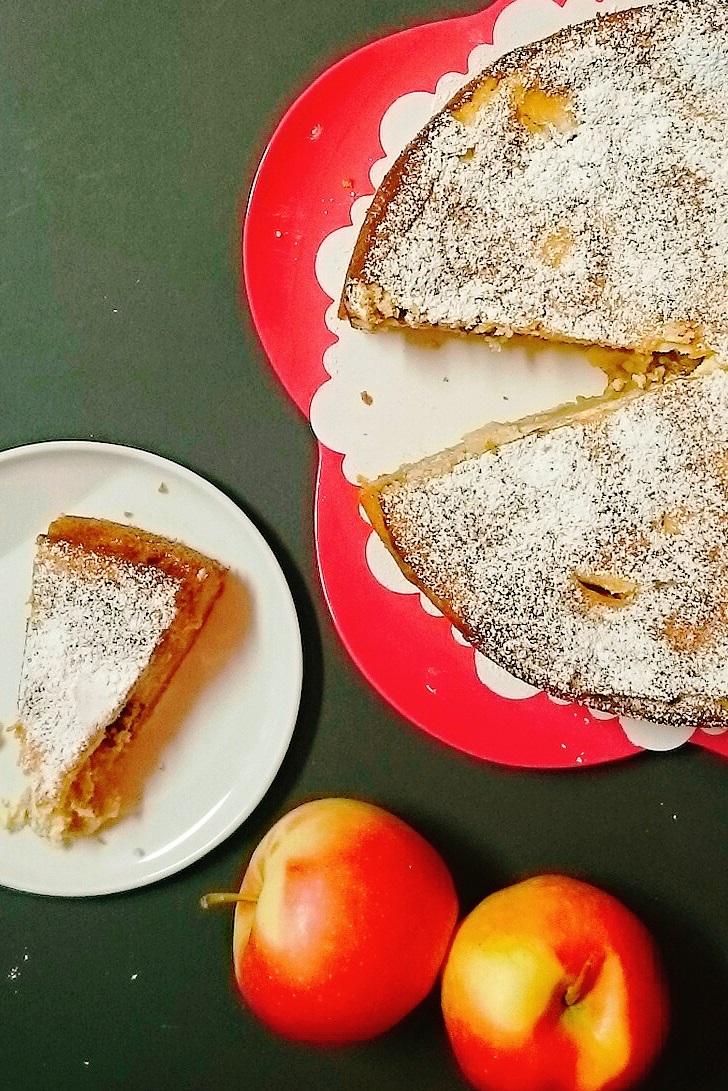 Apfelkuchen karamellisiert