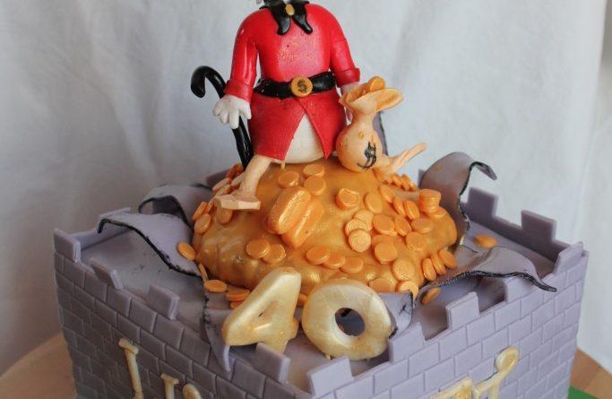 Dagobert Torte, Dagobert Duck Motivtorte, Torte, Motivtorte Dagobert