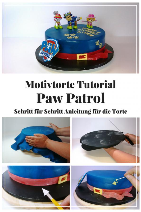Paw Patrol Torte, Motivtorte Tutorial incl. Schritt für Schritt Anleitung für einen gelungenen Kindergeburtstag!