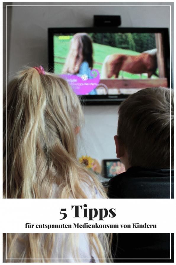 Wollen eure Kinder dauernd fernsehen? Ich habe 5 Tipps für entspannten Medienkonsum von Kindern.