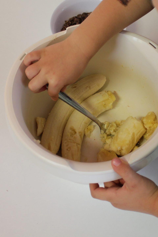 Fluffige Bananenmuffins mit Schokolade laktosefrei