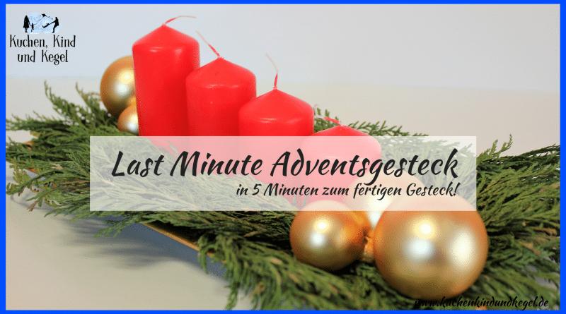 Adventsgesteck, Adventskranz, Deko, DIY, Basteln, Weihnachten, Dekoration, Last Minute Deko, 5 Minuten Adventsgesteck, Basteln mit Kindern, Basteln für Weihnachten