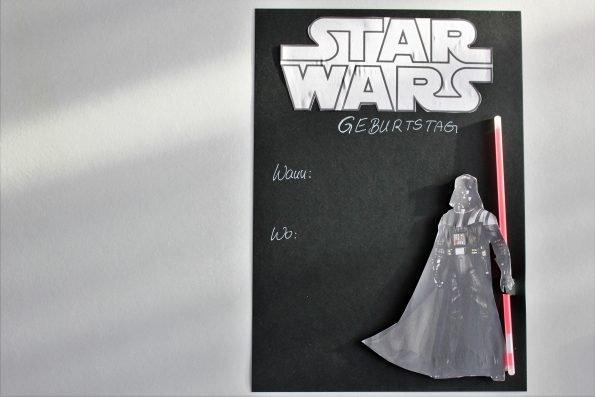 DIY - Star Wars Einladungen basteln für den Star Wars Kindergeburtstag