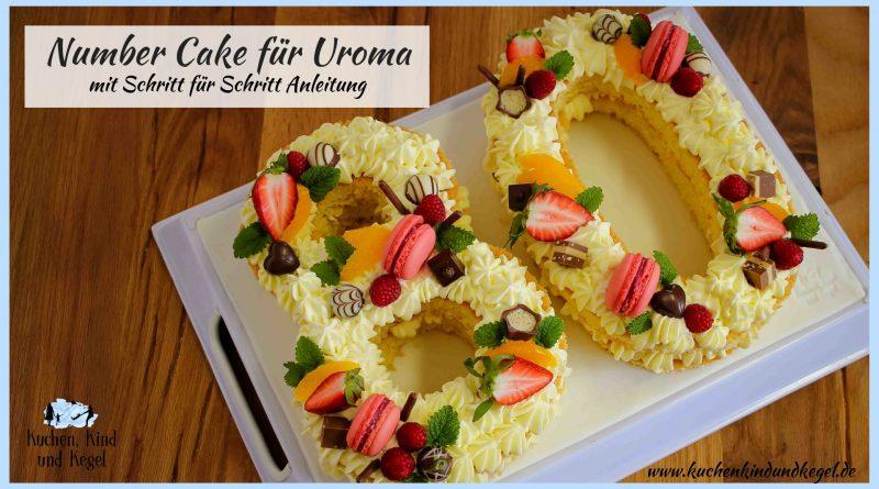 Number Cake - Letter Cake - selber machen -mit Rezept - einfache Schritt für Schritt Anleitung - Rezepte Letter Cake - Rezepte Number Cake