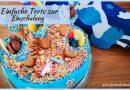 Einfache Torte zur Einschulung - Schultütenkuchen - Motivtorte - Motivtorte zur Einschulung, 1 Schultag