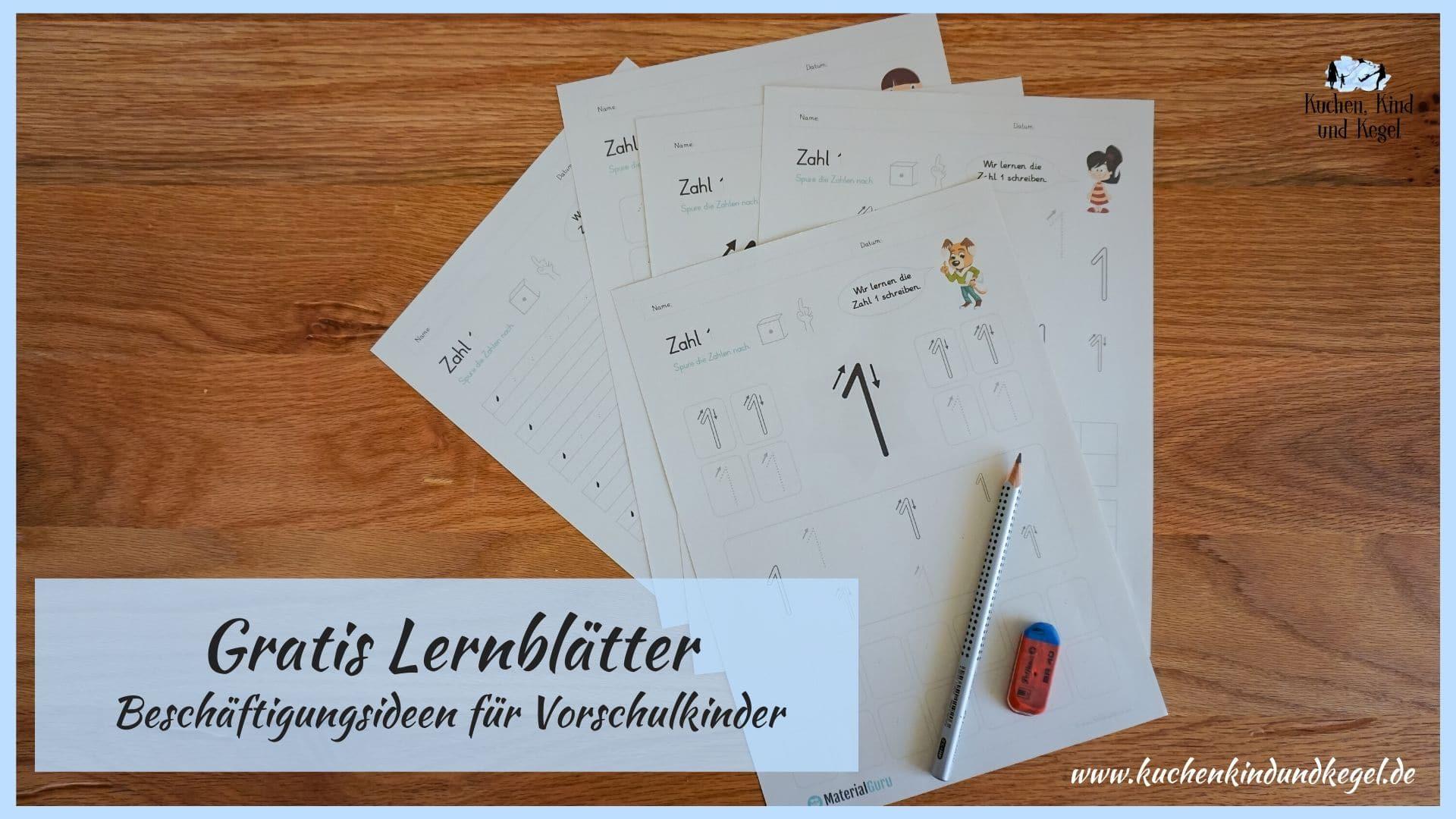 Gratis Lernblätter  Beschäftigungsideen für Vorschulkinder