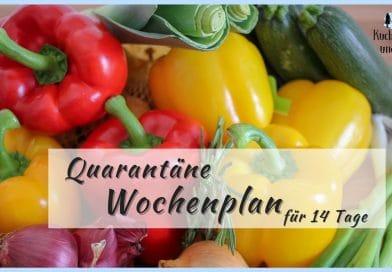 Quarantäne Wochenplan für 14 Tage, kochen mit haltbaren Lebensmitteln, einfache Gerichte, Vorratshaltung, Speiseplan, Wochenplan, Was kochen in der Quarantäne, Welche Lebensmittel sind lange haltbar, wie lege ich einen Vorrat an