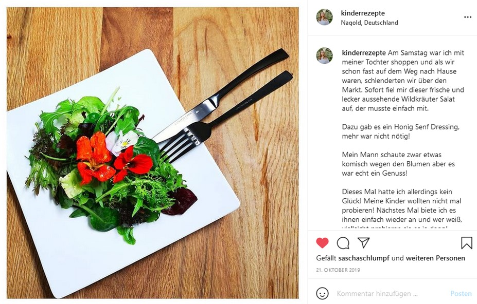 Salat, essbare blüten, Foodart, Foodart für Kinder, Kinderteller, Kinderteller anrichten