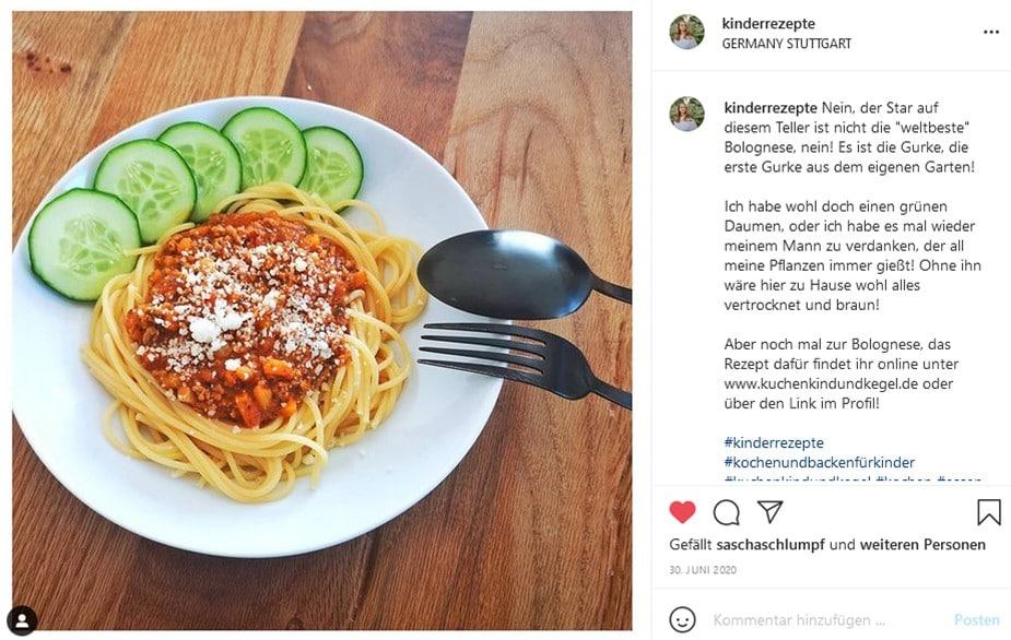 Spaghetti Bolognese, Foodart, Foodart für Kinder, Kinderteller, Kinderteller anrichten